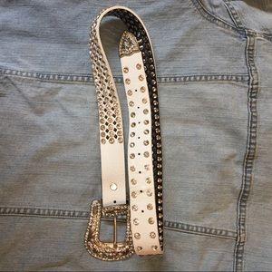 🦋 Ladies Rhinestone Leather Belt Sz M